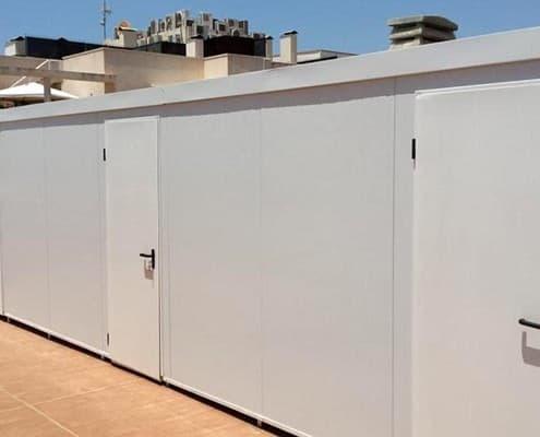Trasteros prefabricados para azotea. Madrid