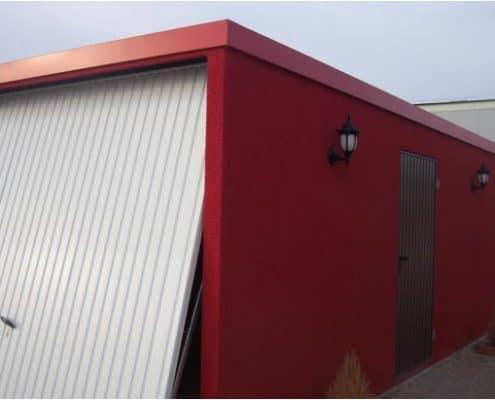 garaje prefabricado con puerta basculante