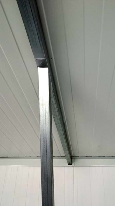 Detalle garaje prefabricado doble diáfano