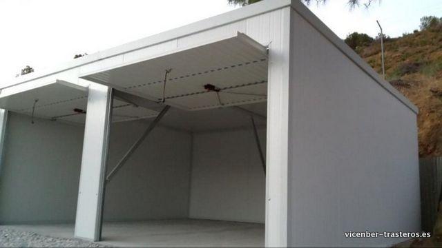 Garajes de panel sandwich sin pared divisoria