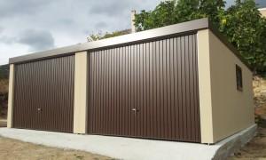 Garaje prefabricado doble