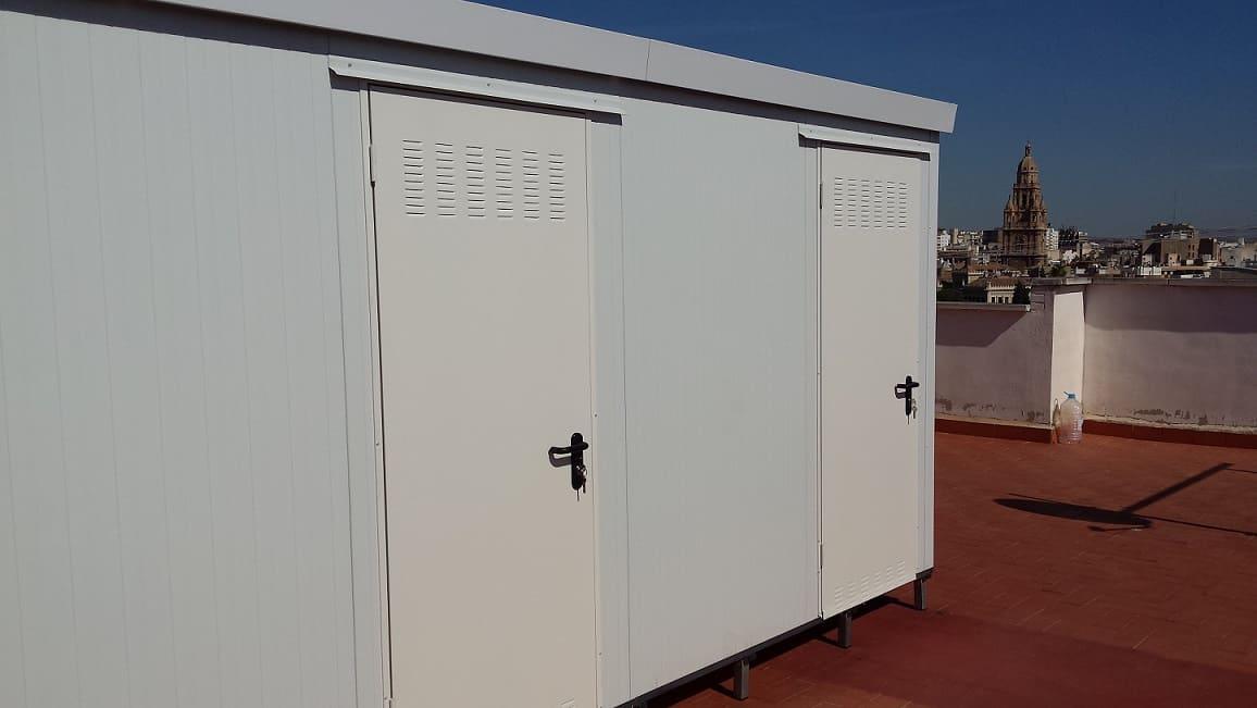 Instalaci n de 17 trasteros prefabricados en murcia for Trasteros prefabricados precios