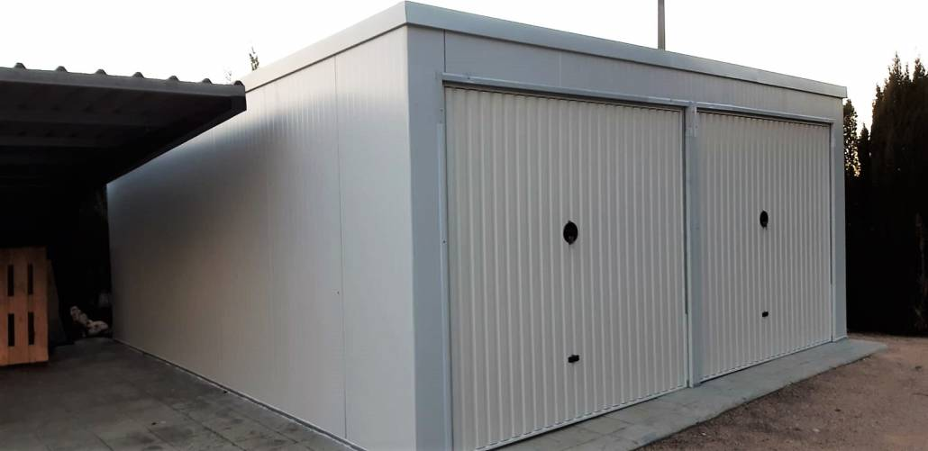 Montaje de Garaje Prefabricado doble Yecla