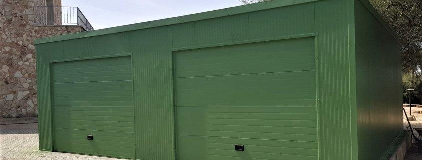 Montaje de garaje prefabricado doble en Mallorca